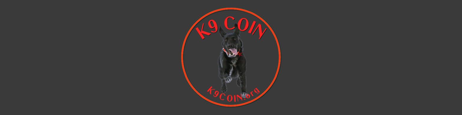 k9 Coin logo black dog